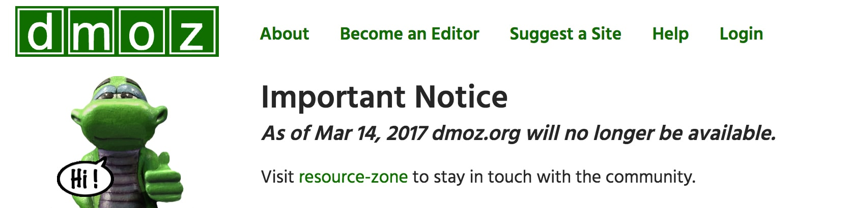 不变革,必淘汰 - 开放目录 DMOZ 关闭分析-米饭粑
